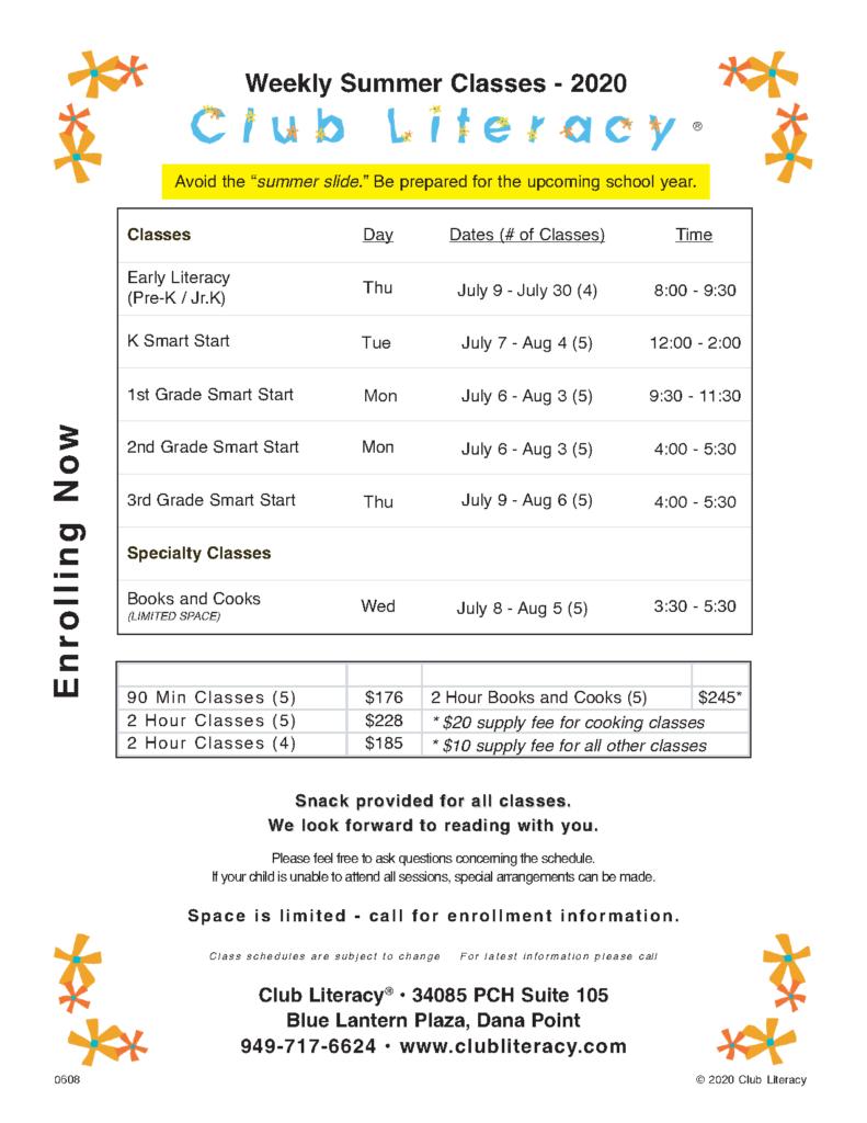 Class Schedule 2020-06-08
